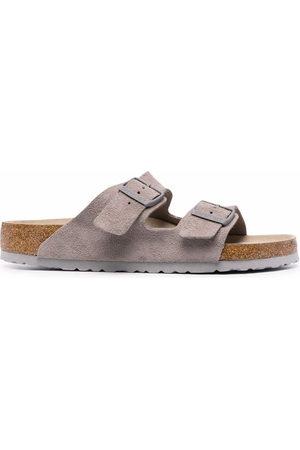 Birkenstock Leather double-strap sandals - Grey