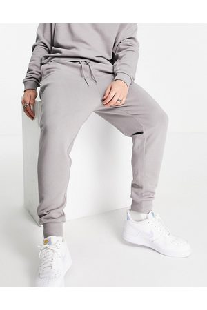 ASOS Tracksuit with oversized sweatshirt and drop crotch sweatpants in -Grey
