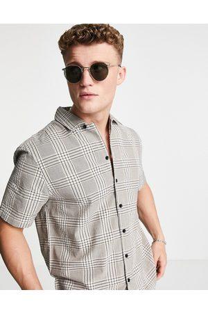 River Island Short sleeve shirt check shirt in -Grey