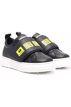 Dsquared2 Graphic-print leather-strap trainers