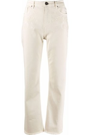 Etro High rise embroidered jeans