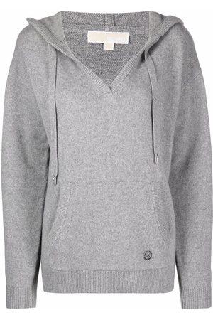 Michael Kors Knitted pullover hoodie - Grey