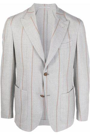 ELEVENTY Single-breasted striped blazer - Grey