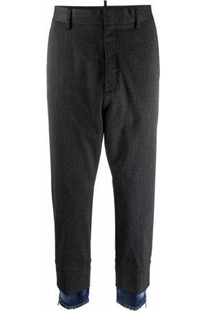 Dsquared2 Denim-trim tailored trousers - Grey