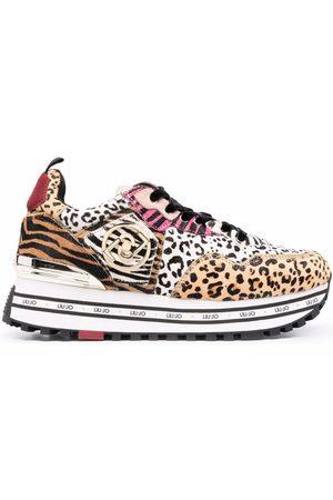 Liu Jo Animal-print platform sneakers - Neutrals