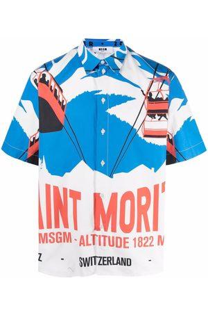 Msgm Printed cotton shirt
