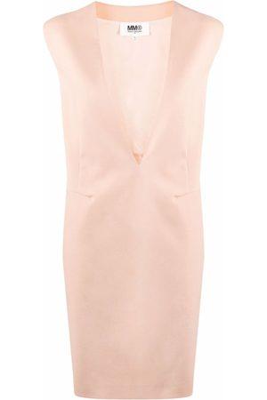 MM6 MAISON MARGIELA V-neck sleeveless dress - Neutrals