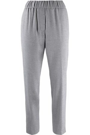 PESERICO SIGN Side stripe-detail trousers - Grey