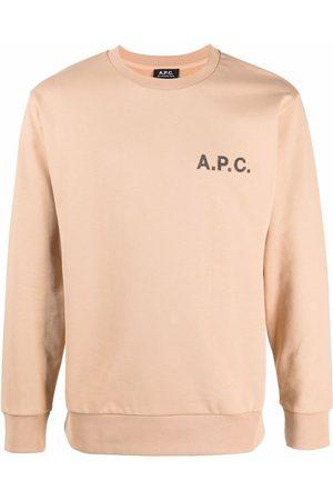 A.P.C. Logo-print crewneck sweatshirt - Neutrals