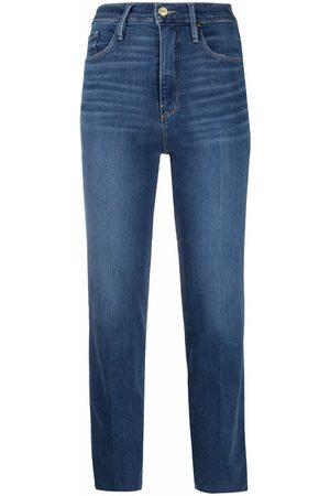 Frame High-rise cropped jeans