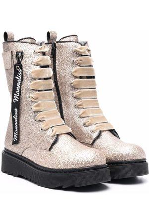 MONNALISA Glitter-detail tall boots