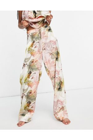 River Island Paisley satin pajama bottom in - part of a set