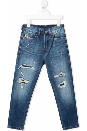 Diesel Boys Slim - Distressed slim-fit jeans