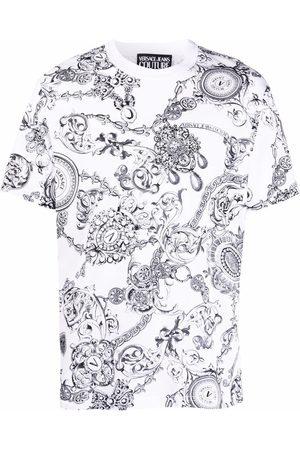 VERSACE Baroque-print short-sleeved T-shirt