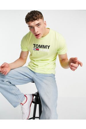 Tommy Hilfiger Corp logo t-shirt in faded lime