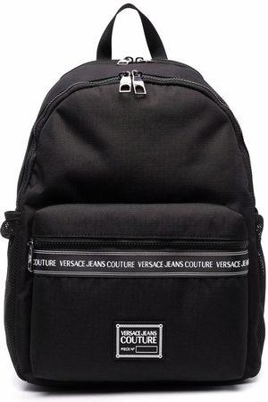 VERSACE Logo-tape detail backpack