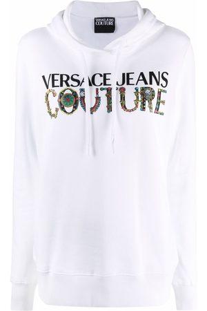 VERSACE Logo-print cotton hoodie