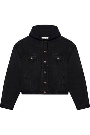 Balenciaga Hooded denim button-front jacket