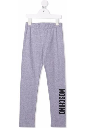 Moschino Logo-print stretch-cotton leggings - Grey