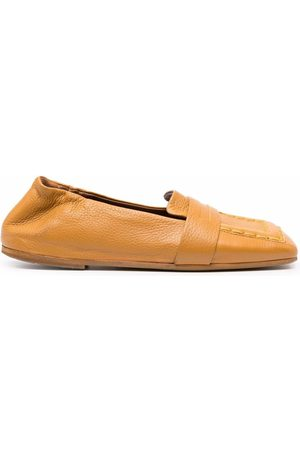 MARSÈLL Topstitched square-toe loafers