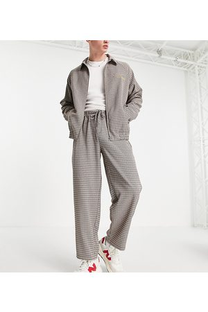 COLLUSION Straight leg pants in heritage plaid - part of a set