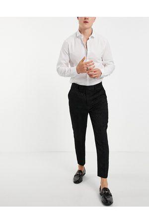 ASOS Tapered suit pants in diamond jacquard