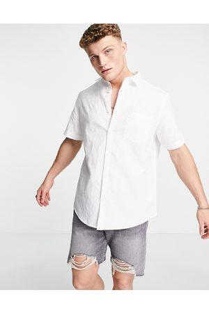 River Island Short sleeve linen shirt in