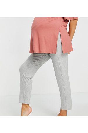Lindex MOM Mia eco vero over the bump pajama bottoms in -Grey