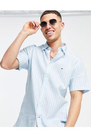 Tommy Hilfiger Organic blend stripe short sleeve shirt-Blues