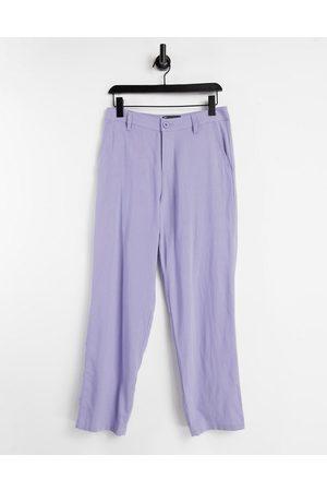 ASOS Linen mix baggy pants in