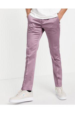 Twisted Tailor Suit pants in mauve satin