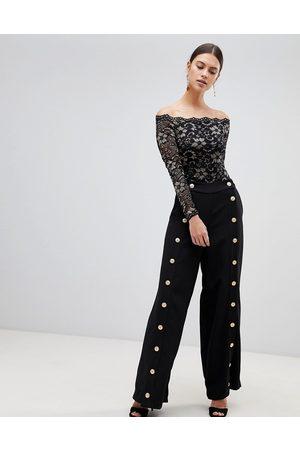 Forever Unique Button Detail Pants