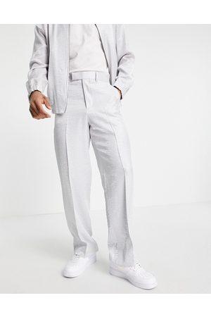 ASOS Smart wide leg hammered satin pants - part of a set