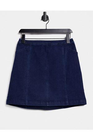 Oasis Mini skirt in dark wash-Blues