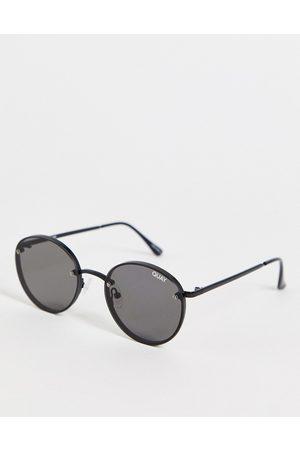 Quay Australia Quay Farrah unisex round sunglasses in with smoky lens