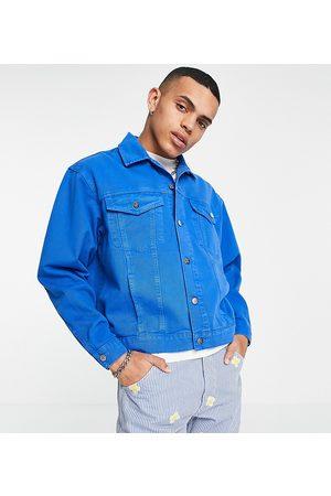 Reclaimed Inspired denim jacket in mid wash blue set-Blues