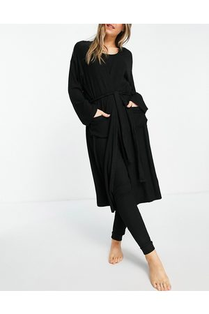 ASOS Mix & match lounge super soft rib midi robe in