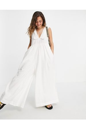 Free People Big Love wide leg jumpsuit with oversized collar