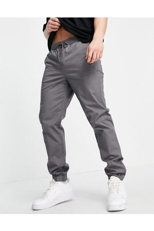 River Island Pull on cuffed chino pants in -Grey