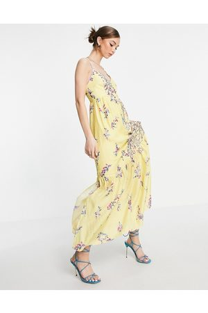 French Connection Flores sleeveless maxi dress in
