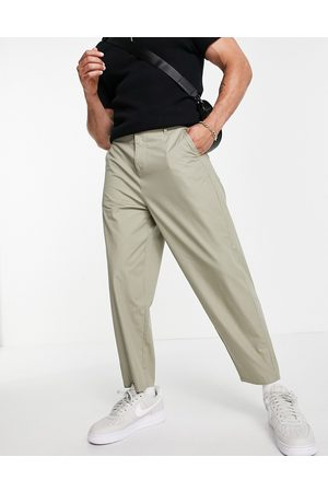 ASOS Lightweight oversized tapered pants in -Neutral
