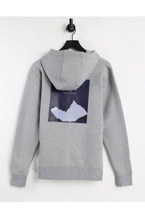 Berghaus U Heritage back print hoodie in -Grey