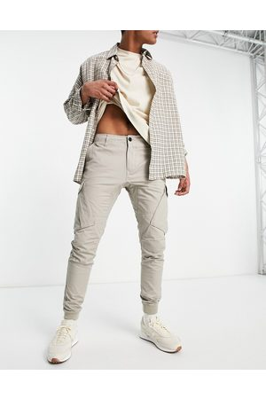 River Island Cargo pants in stone-Neutral