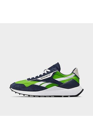 Reebok Men Casual Shoes - Men's Classic Leather Legacy AZ Casual Shoes in /Semi Solar Size 7.5 Leather/Nylon/Suede