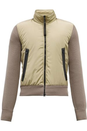 Tom Ford Men Puffer Jackets - Padded-shell And Wool Jacket - Mens
