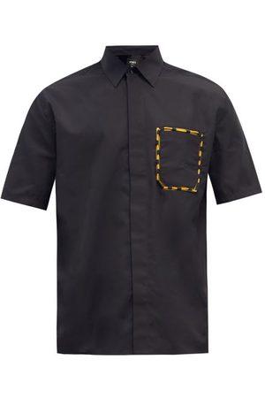 Fendi Patch-pocket Cotton Shirt - Mens