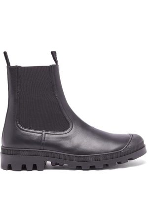 Loewe Rubber-toe Leather Chelsea Boots - Mens