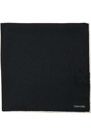 Tom Ford Logo-print Silk Pocket Square - Mens