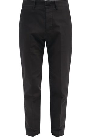 Tom Ford Men Chinos - Garment-dyed Cotton-canvas Tapered-leg Chinos - Mens