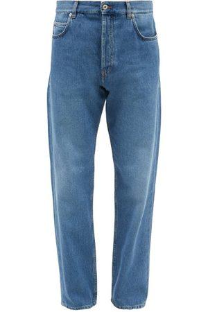 Loewe Anagram-pocket Tapered-leg Jeans - Mens